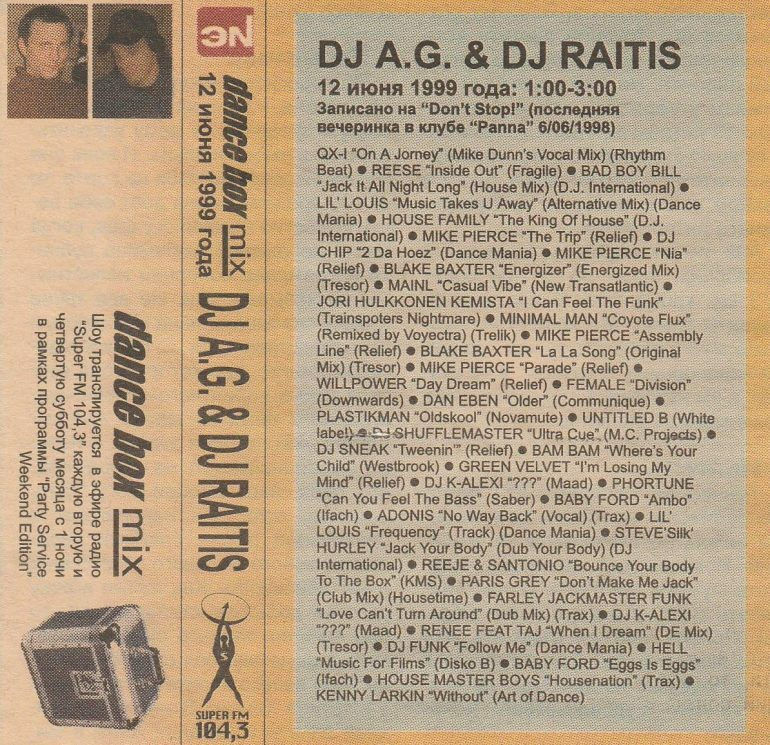 Classic Dance Box Mix: AG & Raitis (1999)